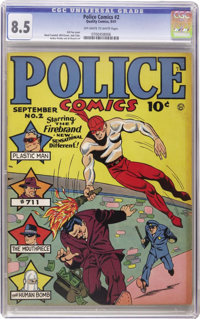Police Comics #2 (Quality, 1941) CGC VF+ 8.5 Off-white to white pages