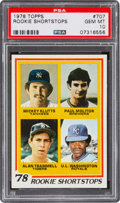 Baseball Cards:Singles (1970-Now), 1978 Topps Molitor/Trammell - Rookie Shortstops #707 PSA Gem Mint 10. ...