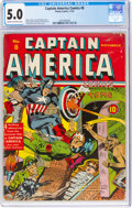 Golden Age (1938-1955):Superhero, Captain America Comics #8 (Timely, 1941) CGC VG/FN 5.0 Cream to off-white pages....