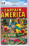 Golden Age (1938-1955):Superhero, Captain America Comics #28 (Timely, 1943) CGC VG/FN 5.0 Cream to off-white pages....