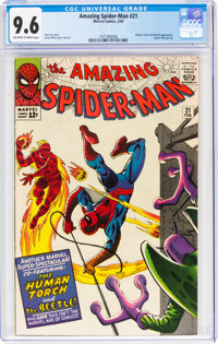 The Amazing Spider-Man #21 (Marvel, 1965) CGC NM+ 9.6 Off-white to white pages