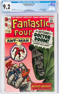 Fantastic Four #16 (Marvel, 1963) CGC NM- 9.2 Off-white to white pages