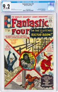 Silver Age (1956-1969):Superhero, Fantastic Four #17 (Marvel, 1963) CGC NM- 9.2 Off-white to white pages....
