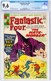Fantastic Four #21 (Marvel, 1963) CGC NM+ 9.6 White pages