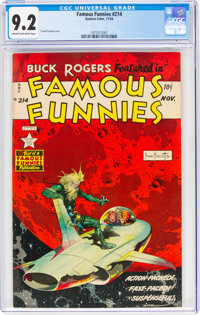 Famous Funnies #214 (Eastern Color, 1954) CGC NM- 9.2 Cream to off-white pages