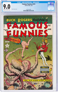 Famous Funnies #215 (Eastern Color, 1955) CGC VF/NM 9.0 Cream to off-white pages