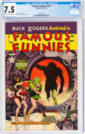 Golden Age (1938-1955):Science Fiction, Famous Funnies #213 (Eastern Color, 1954) CGC VF- 7.5 Cream to off-white pages....