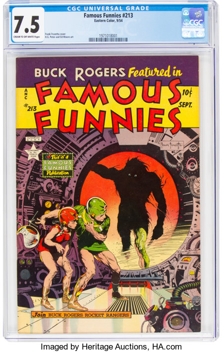 Famous Funnies #213 (Eastern Color, 1954) CGC VF- 7.5 Cream to off-white pages....