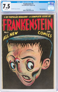 Frankenstein Comics #1 (Prize, 1945) CGC VF- 7.5 White pages