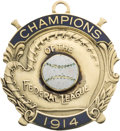 Baseball Collectibles:Others, 1914 Federal League Championship Pendant Issued to Member of Indianapolis Hoosiers....
