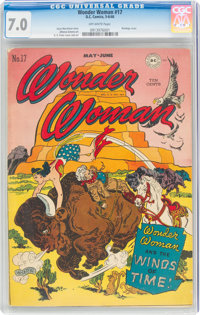 Wonder Woman #17 (DC, 1946) CGC FN/VF 7.0 Off-white pages