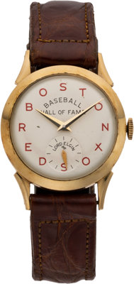 1955 Boston Red Sox Baseball Hall of Fame Wristwatch Presented to Al Simmons