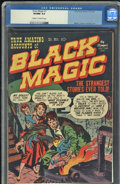 Golden Age (1938-1955):Horror, Black Magic #1 (Crestwood/Headline, 1950) CGC VF/NM 9.0 Cream to off-white pages.