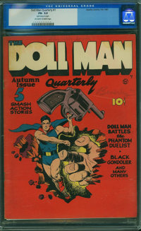 Doll Man Quarterly #1 (Quality, 1941) CGC FN- 5.5 Off-white to white pages