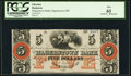 Hagerstown, MD- Hagerstown Bank $5 18__ Remainder PCGS New 61