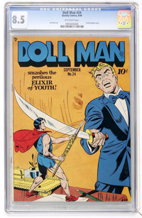 Doll Man #24 (Quality, 1949) CGC VF+ 8.5 Off-white pages