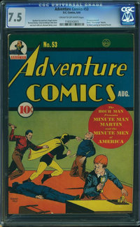 Adventure Comics #53 (DC, 1940) CGC VF- 7.5 Cream to off-white pages