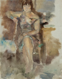 Jules Pascin (Bulgarian/French, 1885-1930) Lucy à Fontenay-aux-Roses, 1928-29 Oil on canvas 36-1/