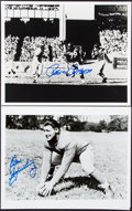 Autographs:Others, Miscellaneous NFL Legends Signed Photographs, Cards, Cuts....