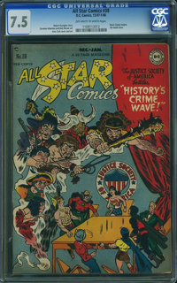 All Star Comics #38 (DC, 1947) CGC VF- 7.5 Off-white to white pages
