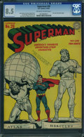 Golden Age (1938-1955):Superhero, Superman #28 (DC, 1944) CGC VF+ 8.5 Off-white to white pages.
