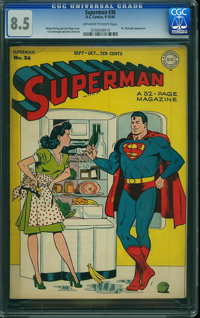 Superman #36 (DC, 1945) CGC VF+ 8.5 Off-white to white pages