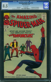 The Amazing Spider-Man #10 (Marvel, 1964) CGC VF+ 8.5 Off-white pages
