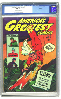 America's Greatest Comics #5 - ROCKFORD PEDIGREE (Fawcett Publications, 1942) CGC VF- 7.5 Off-white to white pages