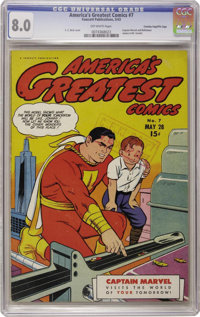 America's Greatest Comics #7 - Crowley Pedigree (Fawcett Publications, 1943) CGC VF 8.0 Off-white pages