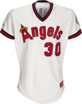 Baseball Collectibles:Uniforms, 1987 California Angels Game Worn Rookie Jersey from The Devon White Collection. ...
