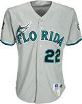 Baseball Collectibles:Uniforms, 1997 Florida Marlins Game Worn Jersey from The Devon White Collection. ...