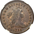 1796 $1 Small Date, Large Letters, B-4, BB-61, R.3 -- Obverse Damage -- NGC Details. XF....(PCGS# 40000)