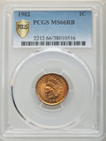 1902 1C MS66 Red and Brown PCGS. PCGS Population: (10/0 and 1/0+). NGC Census: (22/0 and 1/0+). CDN: $400 Whsle. Bid for...