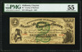 Clayton, AL- County of Barbour $2 Apr. 1, 1867 PMG About Uncirculated 55