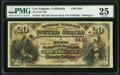 Los Angeles, CA - $20 1882 Brown Back Fr. 504 The First National Bank Ch. # (P)2491 PMG Very Fine 25.</