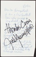 Autographs:Post Cards, NFL Legends Signed Cuts. Offered are the followin...