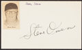Autographs:Index Cards, Steve Owen Signed Cut. ...
