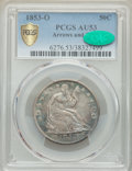 Seated Half Dollars: , 1853-O 50C Arrows and Rays AU53 PCGS. CAC. PCGS Population: (27/67 and 0/1+). NGC Census: (14/83 and 0/0+). CDN: $850 Whsle...