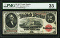 Large Size:Legal Tender Notes, Fr. 60* $2 1917 Legal Tender Star PMG Choice Very Fine 35.. ...