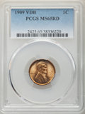 Lincoln Cents, 1909 1C VDB MS65 Red PCGS. PCGS Population: (6688/2970). NGC Census: (2992/1438). CDN: $115 Whsle. Bid for NGC/PCGS MS65. M...