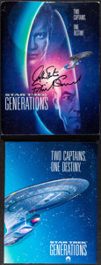 """Movie Posters:Science Fiction, Star Trek: Generations & Other Lot (Paramount, 1994). Very Fine-. Autographed Presskits (3) (9"""" X 12"""") & Program (8.5"""" X 11""""... (Total: 4 Items)"""
