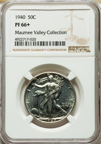 1940 50C PR66+ NGC. EX: Maumee Valley Collection. NGC Census: (814/434 and 5/11+). PCGS Population: (973/422 and 17/44+)...