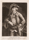 Military & Patriotic:Revolutionary War, Revolutionary War: Israel Putnam Mezzotint Portrait....