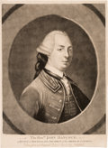Military & Patriotic:Revolutionary War, Revolutionary War: John Hancock Mezzotint Portrait....