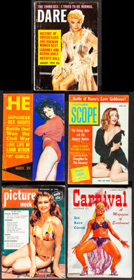 "Dare & Other Lot (You, 1959). Overall: Fine/Very Fine. Magazines (11) (Multiple Pages, 5.5"" X 7.5"" - 4..."