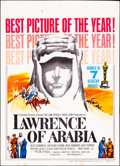 "Movie Posters:Academy Award Winners, Lawrence of Arabia & Other Lot (Columbia, R-1963). Overall: Fine/Very Fine. Trimmed Window Card (14"" X 19.5"") & Three Sheet ... (Total: 2 Items)"