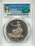 1880 T$1 PR64+ Deep Cameo PCGS. CAC. PCGS Population: (0/9 and 2/1+). NGC Census: (0/6 and 0/0+). PR64. Mintage 1,987...