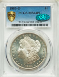 Morgan Dollars, 1885-O $1 MS64 Prooflike PCGS. CAC. PCGS Population: (749/297). NGC Census: (714/268). MS64....