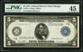 Large Size:Federal Reserve Notes, Fr. 871a $5 1914 Federal Reserve Note PMG Choice Extremely Fine 45.. ...