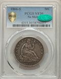 1866-S 50C No Motto VF30 PCGS. CAC. PCGS Population: (24/76 and 0/1+). NGC Census: (9/31 and 0/0+). CDN: $1,300 Whsle. B...